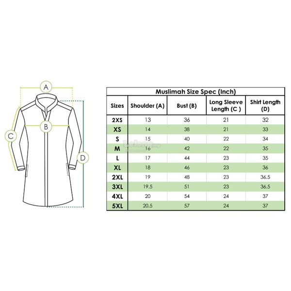 MR2 Denimsoft Corporate Shirt FD-1082 (Muslimah)