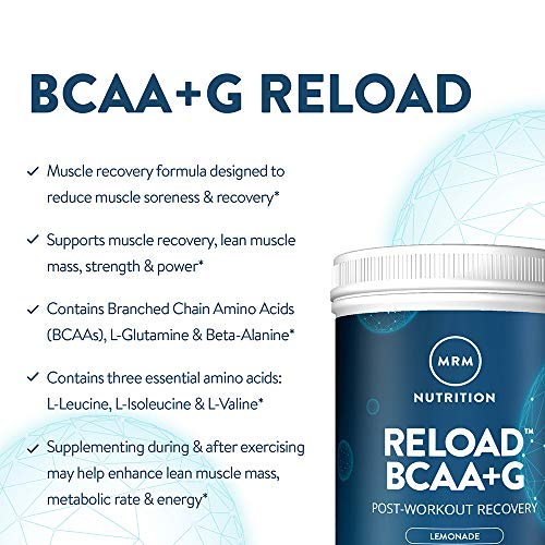 MRM BCAA+G Reload Post-Workout Recovery – Watermelon, 840g - 60 Servings Per