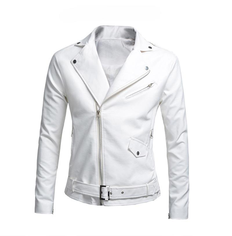 MS0046D Korean New Slim PU Leather Jacket