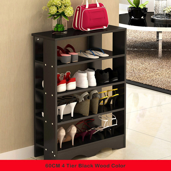 MSFE High Quality Wood Shoe Rack Space Saving Shoe Tower Cabinet Stora