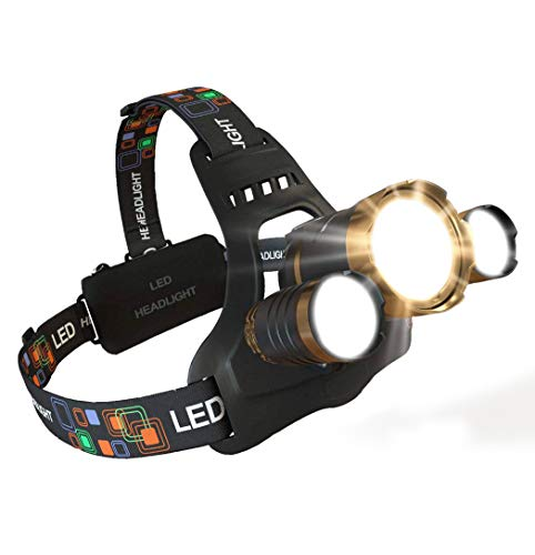 MsForce Ultimate LED Headlamp, Bright 1080 Lumens, Hard Hat Clips, Red Light,
