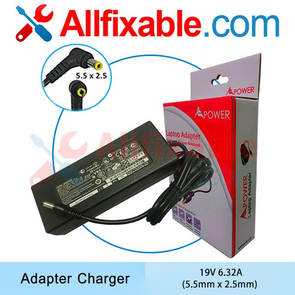 MSI 19v 6.32a GE60 2PC 2PE GE62 GE72 6QC Apache Pro Adapter Charger