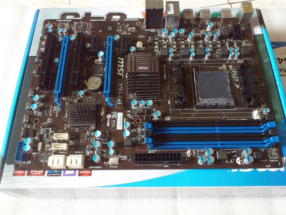 msi 970a-g43 socket am3+ amd motherboard am3