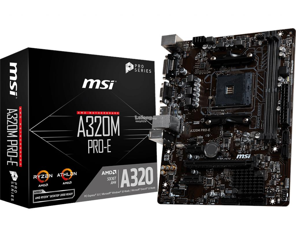 MSI A320M PRO-E SOCKET AM4 MAINBOARD
