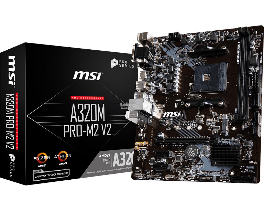 MSI A320M PRO-M2 V2 SOCKET AM4 MAINBOARD