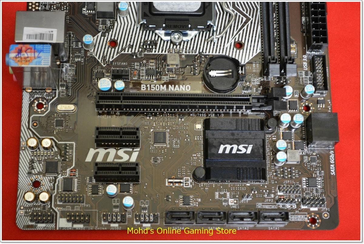 MSI B150M NANO MATX Socket 1151 Mot (end 5/29/2019 12:15 PM