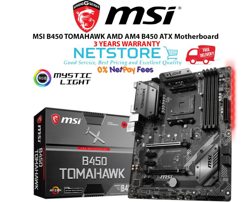 MSI B450 TOMAHAWK AMD AM4 B450 ATX Motherboard