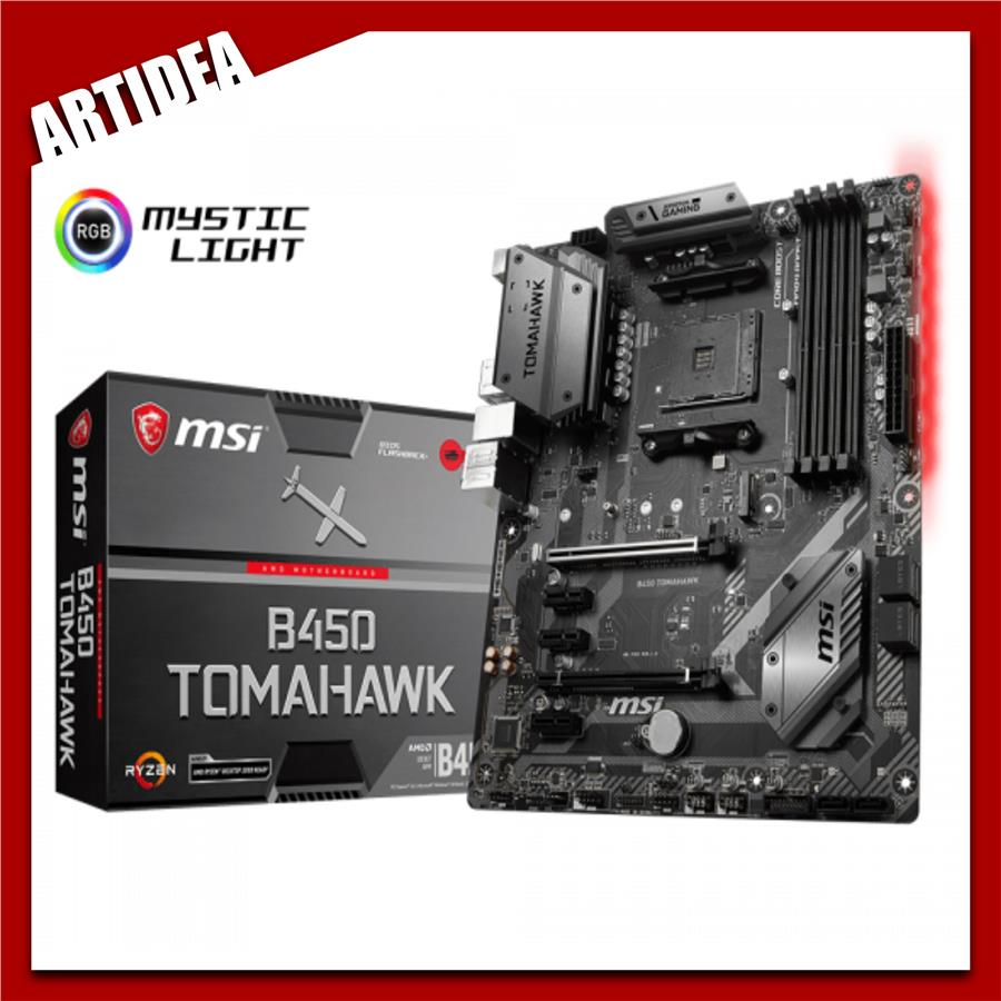 ^ MSI B450 TOMAHAWK MOTHERBOARD AM4 SOCKET SUPPORT RYZEN 1ST, 2ND AND