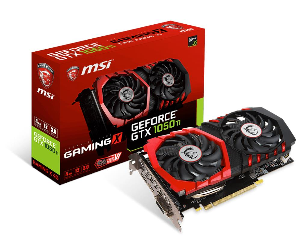 # MSI GEFORCE® GTX 1050 Ti GAMING X 4G # 1493 MHz | 4G/D5