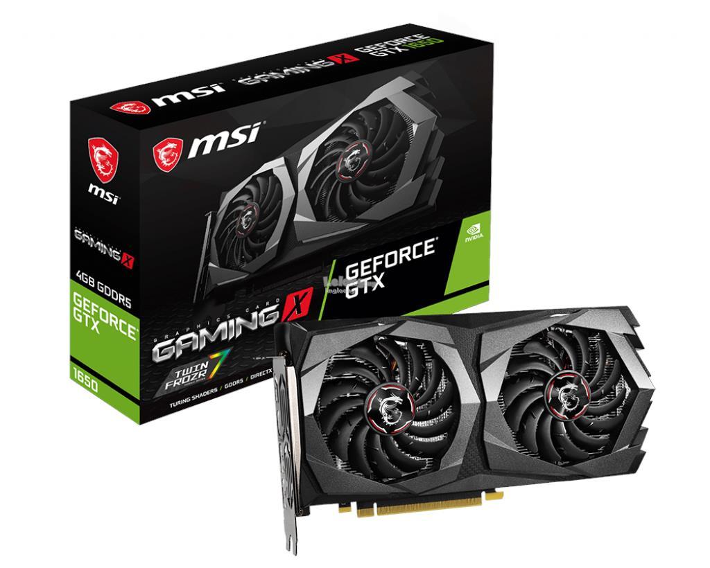 # MSI GeForce GTX 1650 GAMING X 4G # 4GB/GDDR5 | 1860MHz