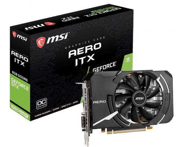 MSI GEFORCE GTX 1660 SUPER AERO ITX 6GB GDDR6 GRAPHIC CARD