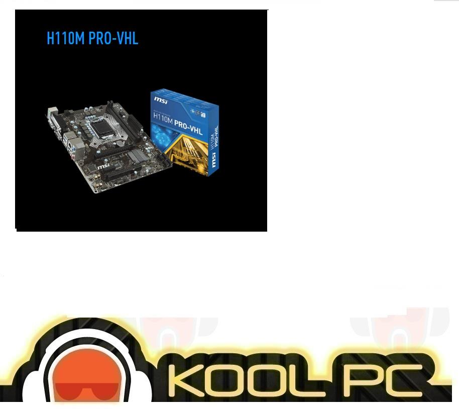 # MSI H110M PRO-VHL Intel Socket 1151 Motherboard