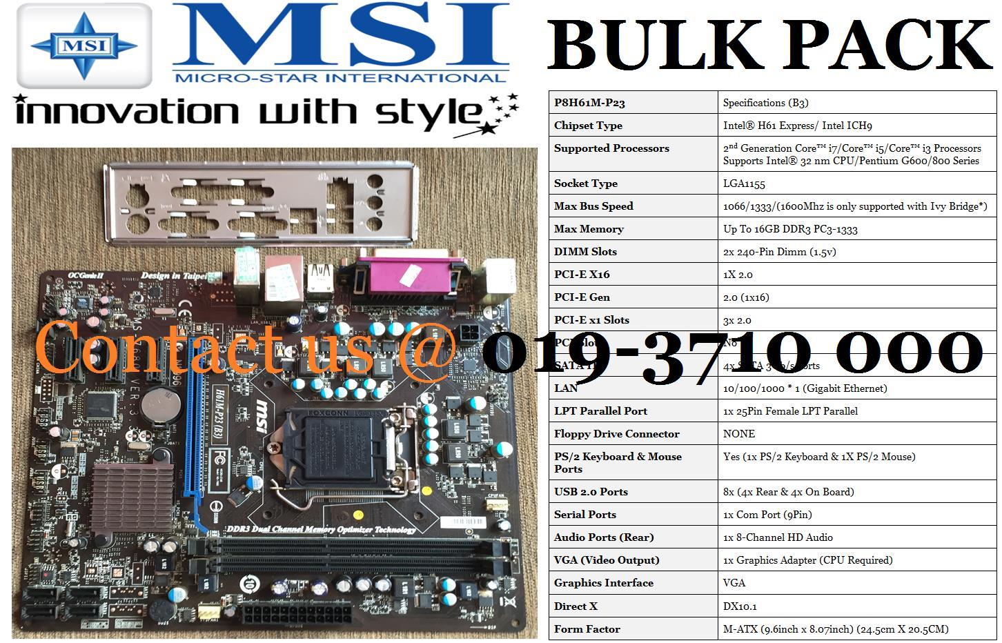 MSI H61M-P23 WINDOWS 8 X64 DRIVER