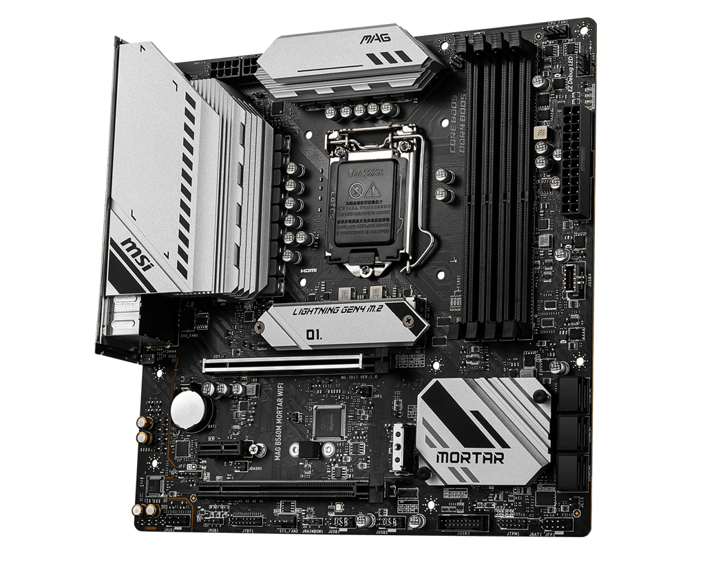 MSI MAG B560M MORTAR WIFI mATX INTEL MOTHERBOARD - 911-7D17-003