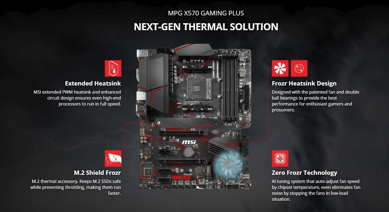 MSI MPG X570 GAMING PLUS AMD AM4 X570 ATX Gaming Motherboard