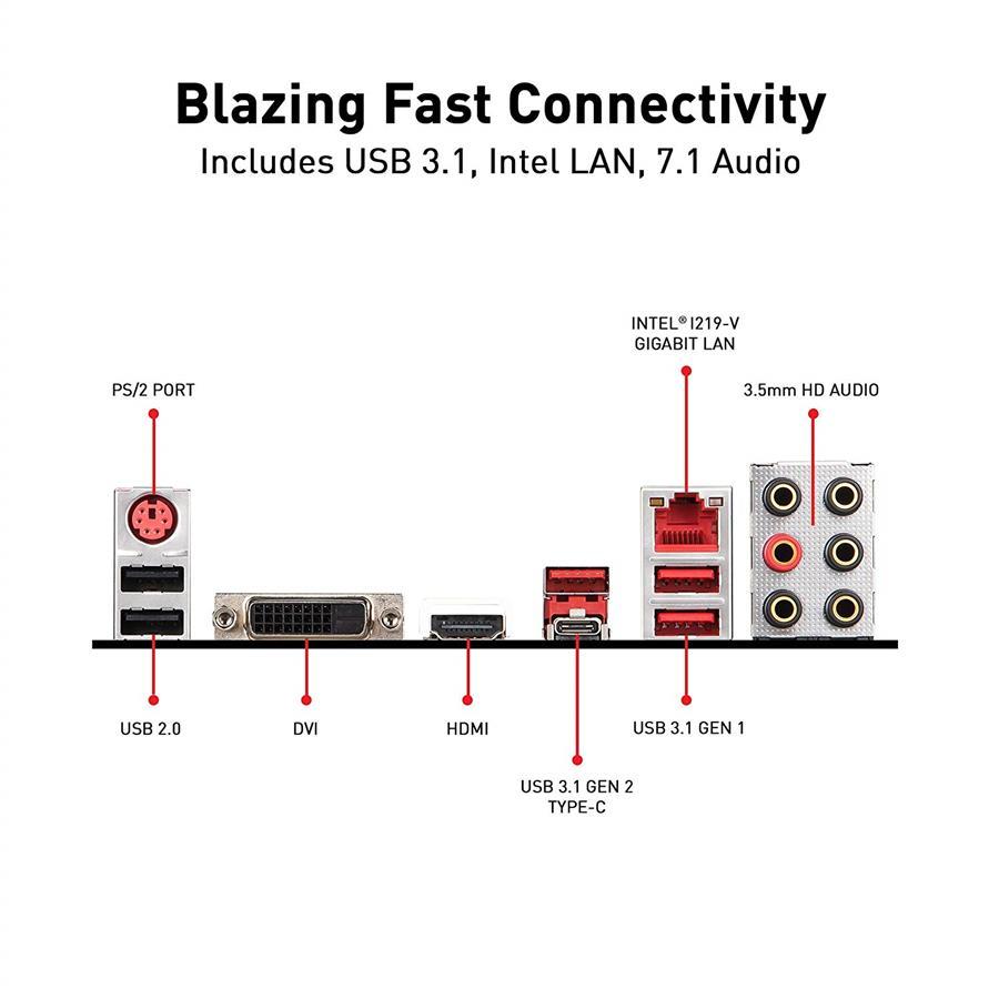 MSI MPG Z390 GAMING PLUS LGA 1151 (300 Series) ATX Motherboard