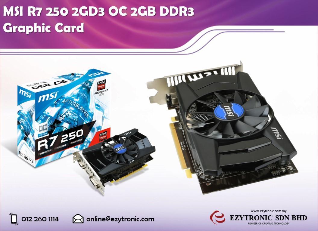 MSI R7 250 2GD3 OC 2GB DDR3 Graphic Card