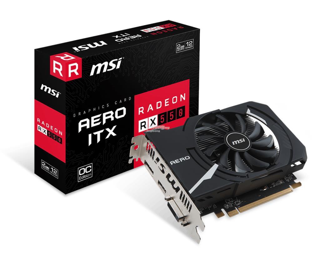 # MSI Radeon RX 550 AERO ITX 2G OC # 1203 MHz | 2G/D5