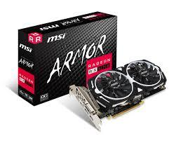 MSI VGA Graphic Cards RX 570 ARMOR 4G OC