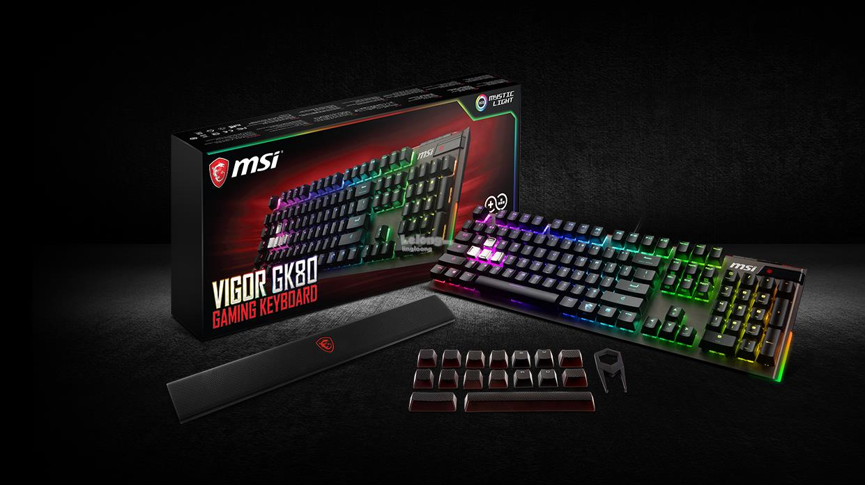 # MSI Vigor GK80 - MX RED RGB Mechanical Keyboard #