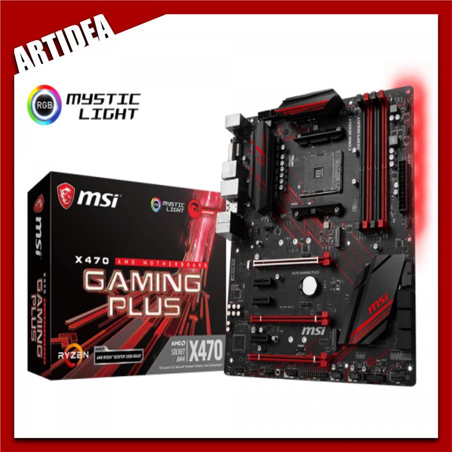 ^ MSI X470 GAMING PLUS ATX MOTHERBOARD AMD AM 4 SOCKET