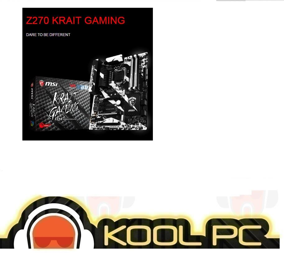 # MSI Z270 KRAIT GAMING Intel Socket 1151 Motherboard