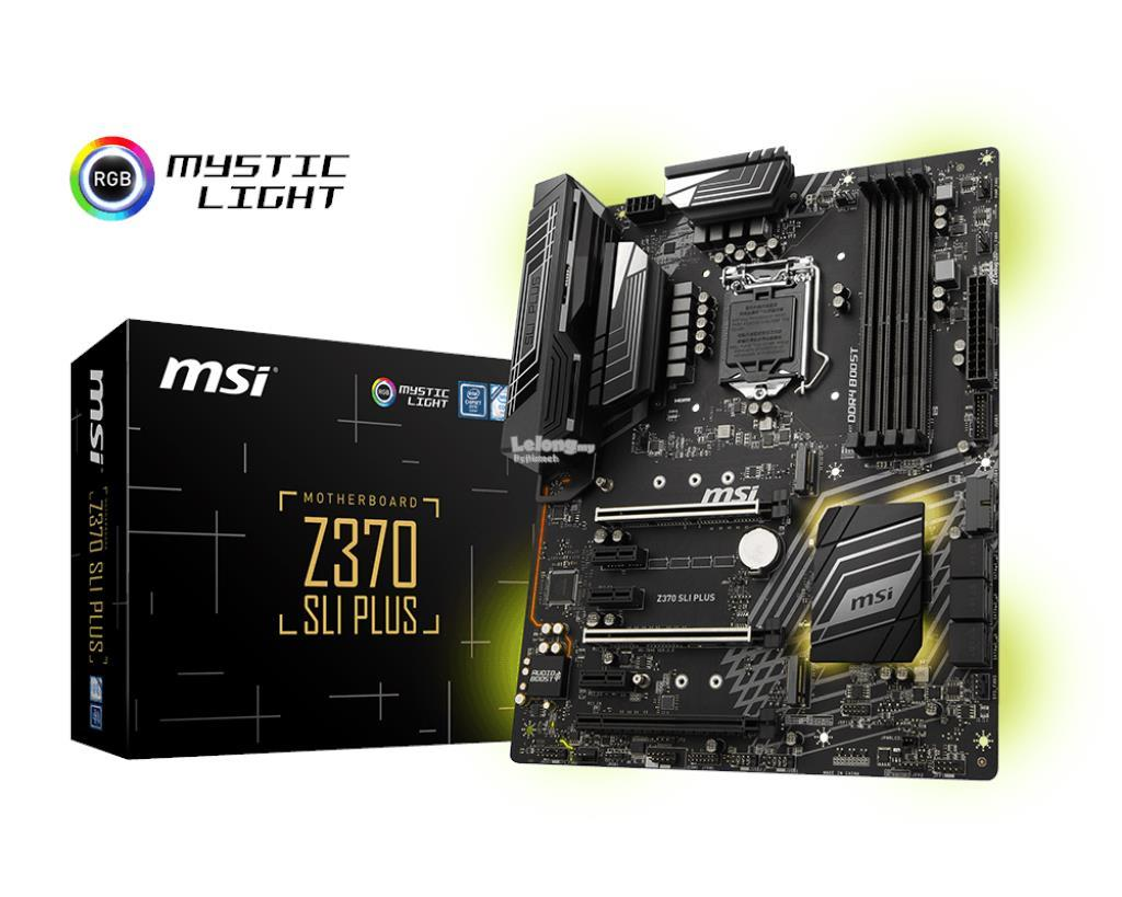 MSI Z370 SLI PLUS Socket 1151 Motherboard
