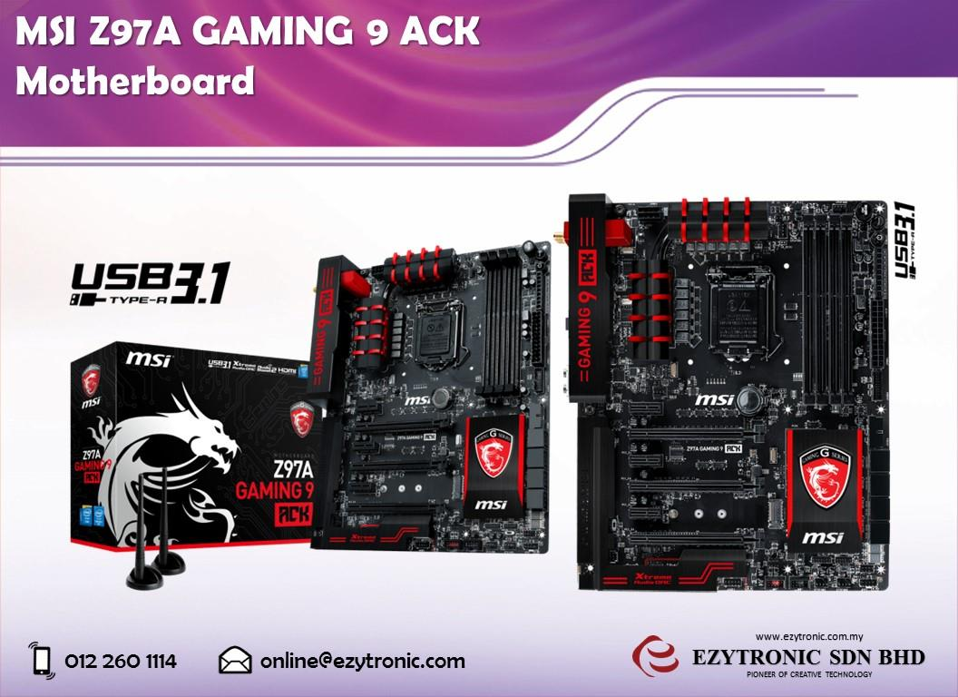 MSI Z97A Gaming 9 ACK C-Media Audio Drivers for Windows Download