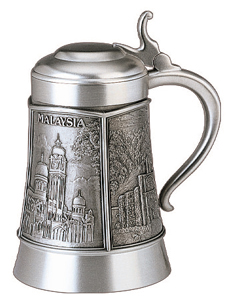 MSP32143 - Pewter Tankard With Lid
