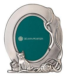 MSP33522 - Pewter Photoframe, Cat (2R)