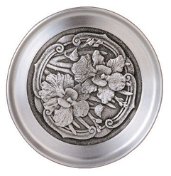 MSP33732 - Pewter Coaster, Orchid Motif