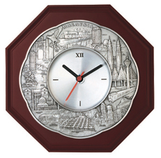 MSP33961 - Pewter Clock Plaque, Scallop Malaysia Landmark - 3
