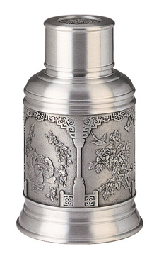 MSP34555 - Pewter Tea Caddy, Double Happiness