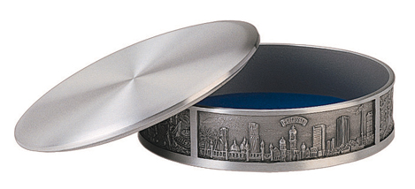 MSP36471 - Pewter Trinket Box - M'sia Cultural