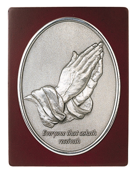 MSP37255 - Pewter Wall Plaque, Praying Hand