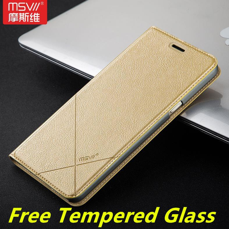 online store 996fd 46431 Msvii Samsung Galaxy A9 2016 Flip Case Cover Casing + Tempered Glass