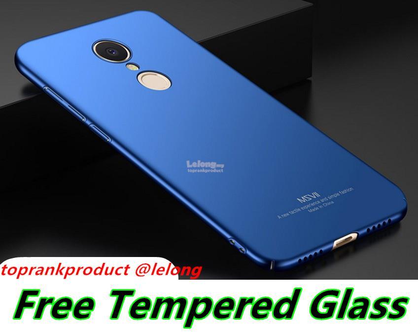 size 40 05826 4acc8 Msvii Xiaomi Redmi 5 / Plus Hard Case Cover Casing + Tempered Glass