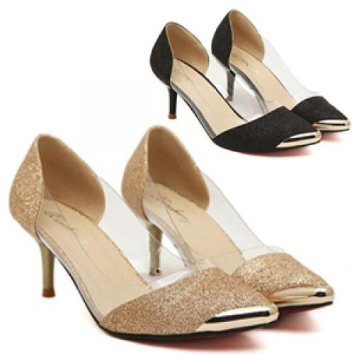 MT004247 Princess Women's Luxury  Powder High-heeled Women Banquet Sh