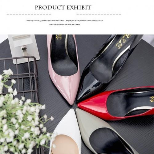 MT011719 Korean Thin Heel Patent Leather Point Shoe
