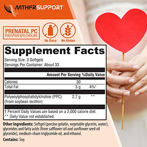 ... MTHFR Support Phosphatidylcholine Supplement | 2.7 Grams of Pure PolyenylP
