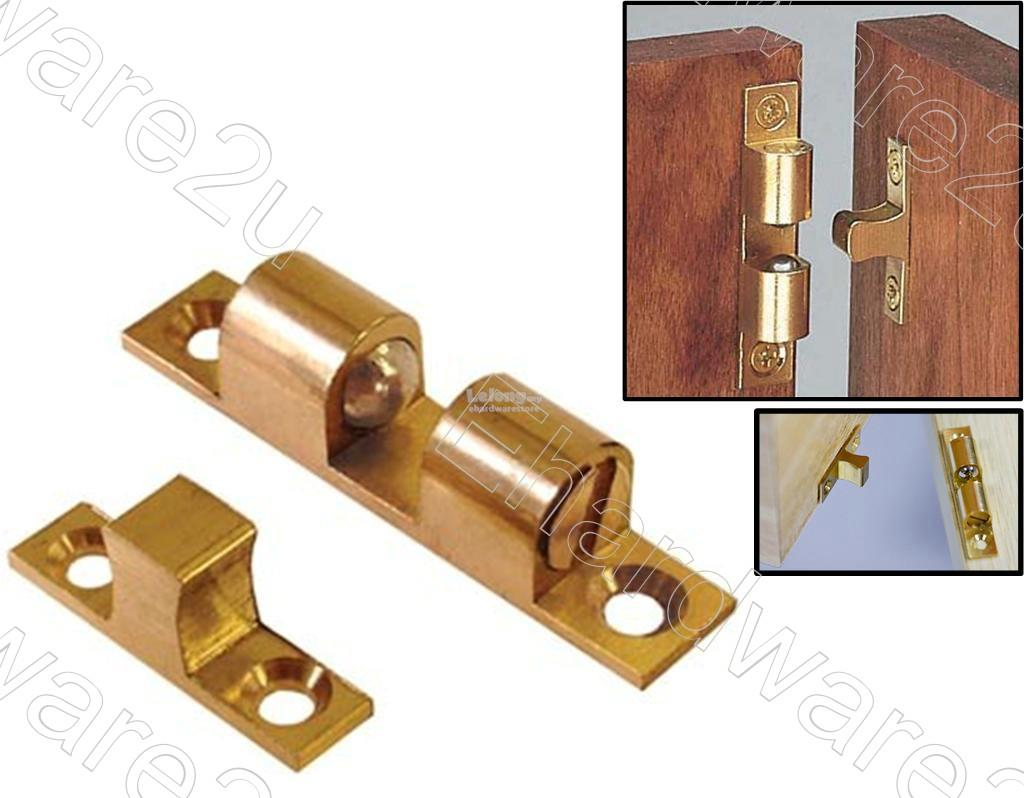 Multi-Angle Mount Wardrobe Cabinet Brass Ball Catch 50mm (BDBC50)