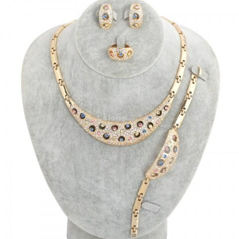 Multi-color Rhinestone Jewelry Set