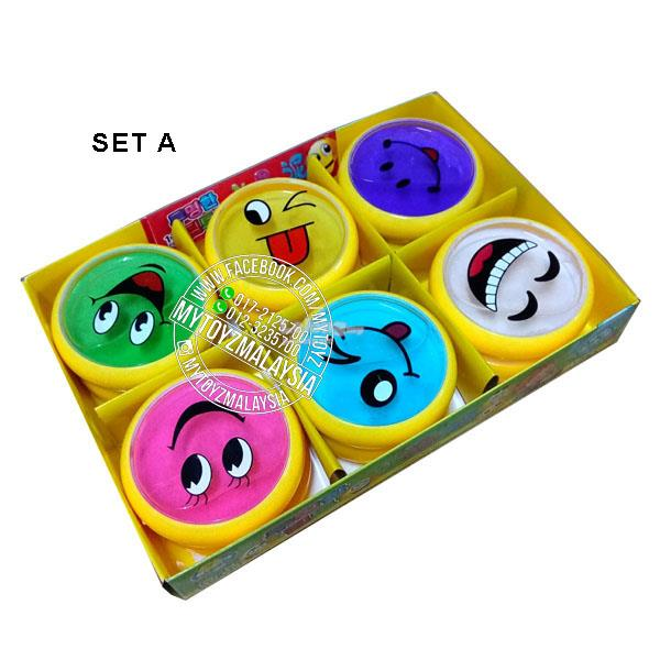 Multi-Colour Slime In Cute Cases (Set of 6)