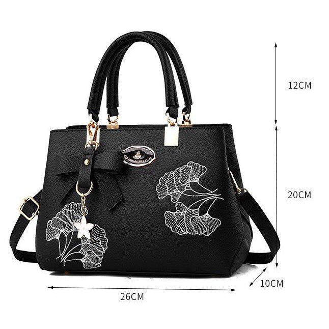Multi Compartment Floral Handbag Women Sling Bag Beg Tangan
