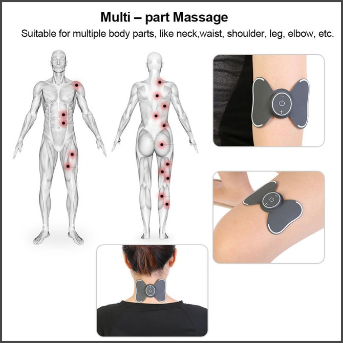 Multi-function Mini Portable Massage Pad Neck Shoulder Digital Massager