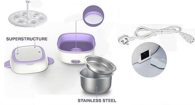 Multi-Function Portable Electric Lunch Box Stainless Steel
