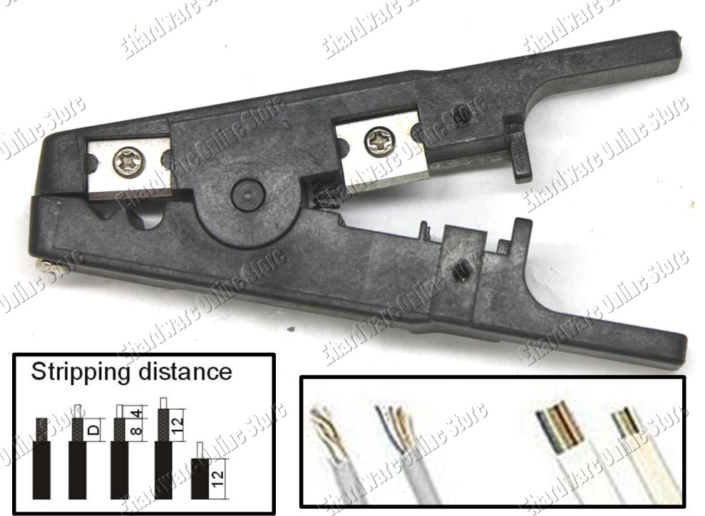 Multi-Function UTP/STP Phone Cable Stripping Tool (W0242)
