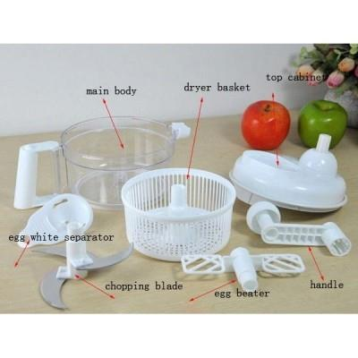 MULTI-FUNCTION VEGETABLE CUTTING SWIFT CHOPPER WHITE COLOR