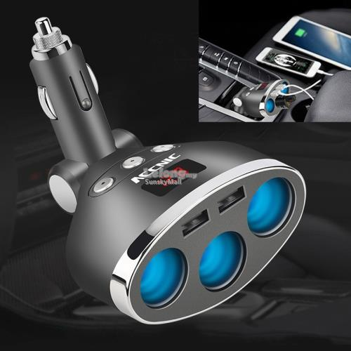 Multi-functional Cigarette Socket Lighter Splitter