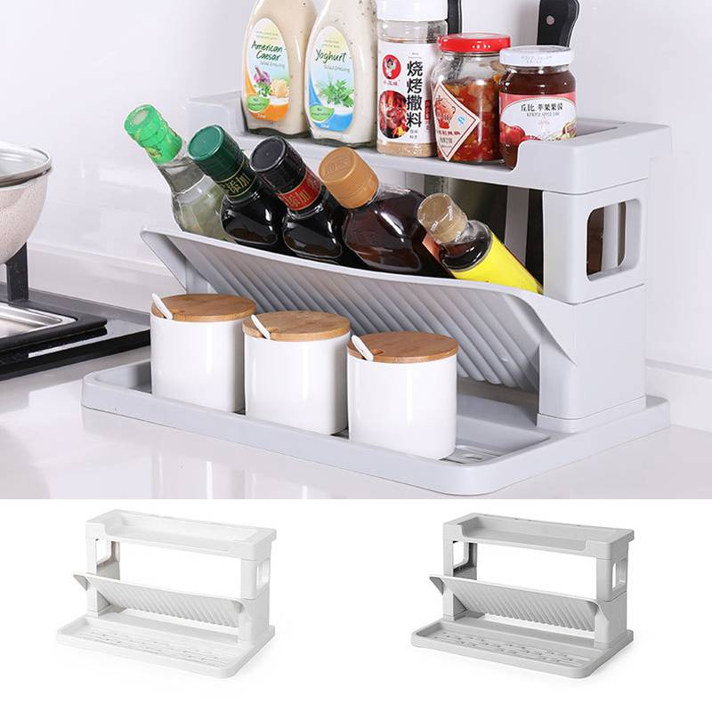 Multi Functional Kitchen Rack Storage With Knife Holder Rak Dapur